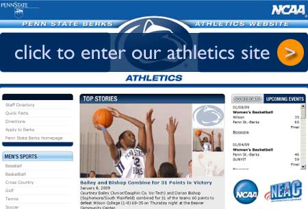 click to enter athletics web site
