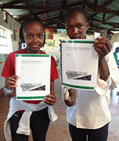 Kenyan students involved with Creative Minds project