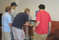 Students registering for computer access