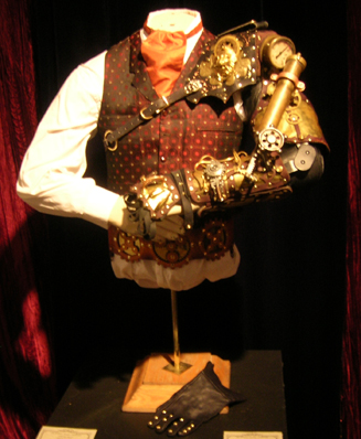 Mechanical arm at STEAMpunk! exhibit