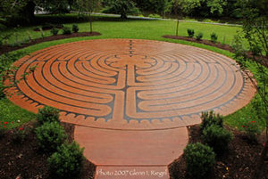 Photo of an 11-circuit, Chartres replica labyrinth