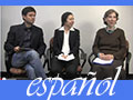 Three members of the Spanish faculty with subtitle español