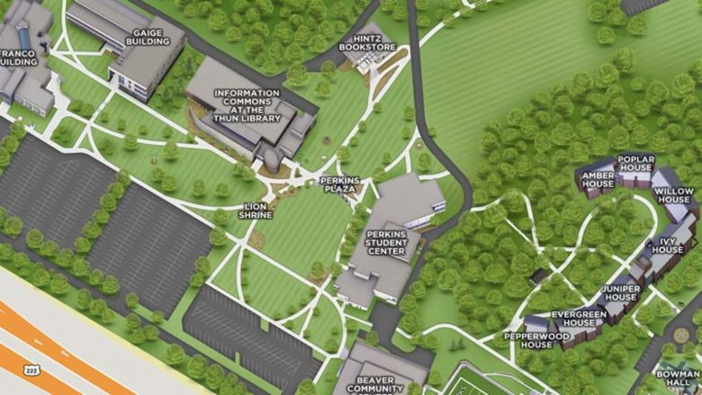 a snippet of the online map of Berks campus