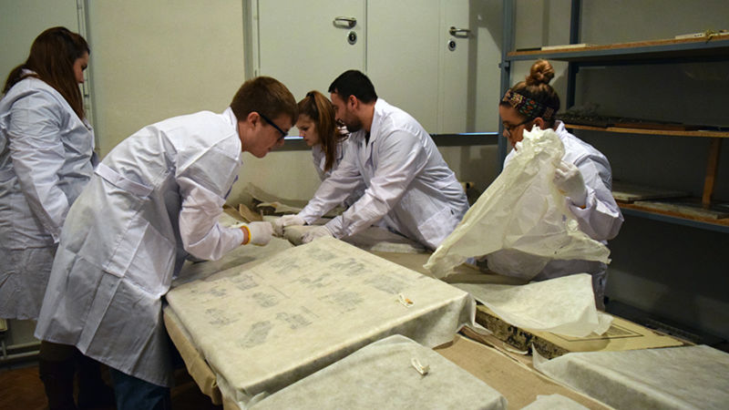 Students from Penn State Berks traveled to Poland to work on preservation efforts at Auschwitz.