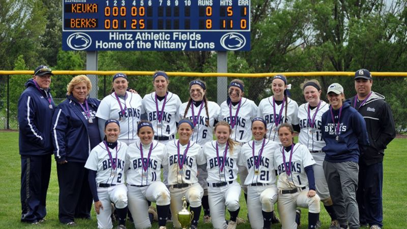 The Penn State Berks softball team
