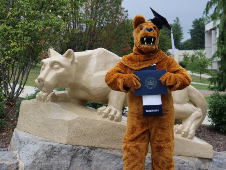 Nittany Lion graduation photo