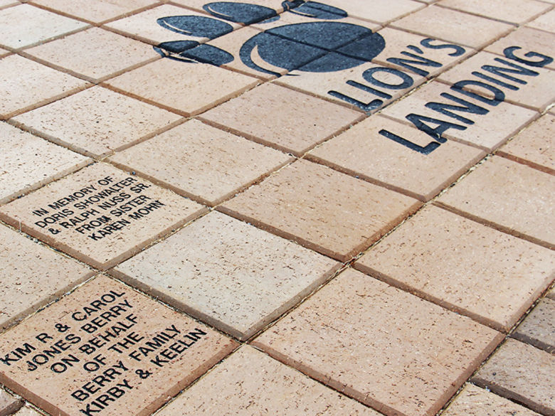 Lion's Landing brick project
