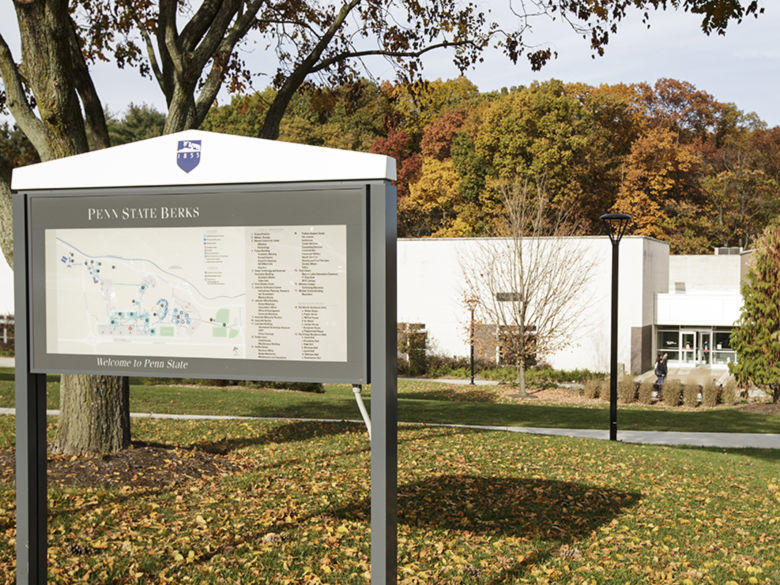 One of the campus maps located through out the campus