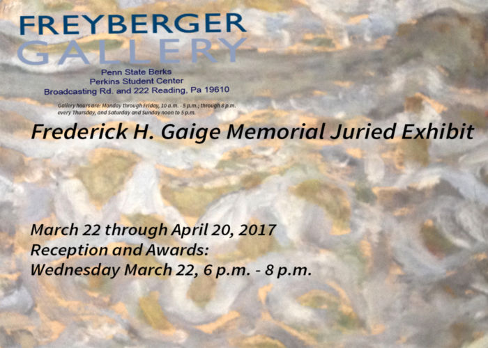 Frederick H. Gaige Memorial Juried Exhibit postcard