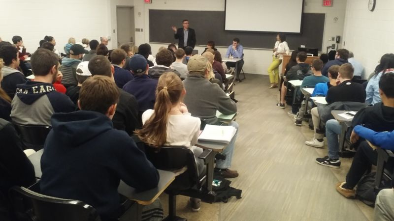 Students at the October 26th, 2016 Entrepreneurship Speaker Series