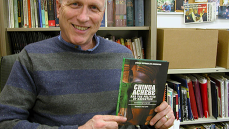 "Thomas Jay Lynn and his book ""Chinua Achebe and The Politics of Narration: Envisioning Language"""
