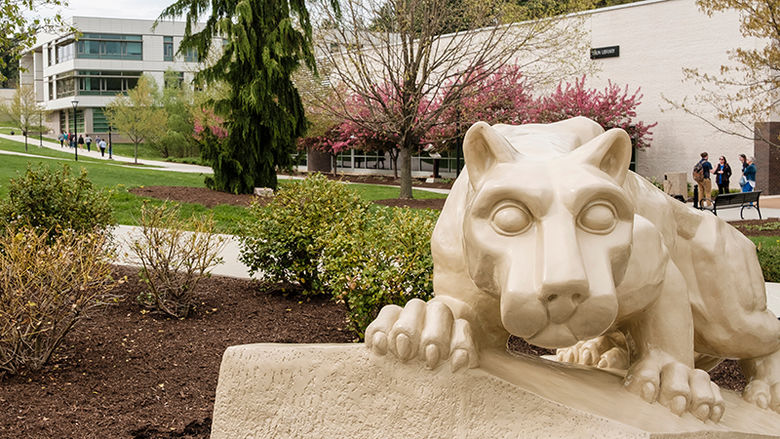 The Nittany Lion Shrine on Berks campus