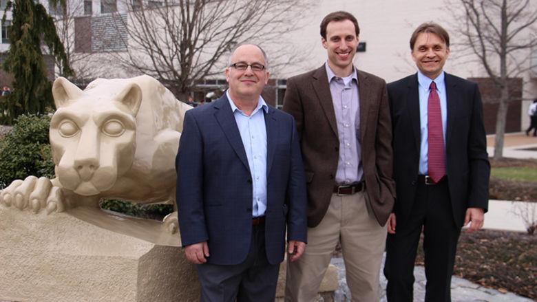 Photo of Dr. Leonard Gamberg, Dr. Daniel Pitonyak and Dr. Alexei Prokudin
