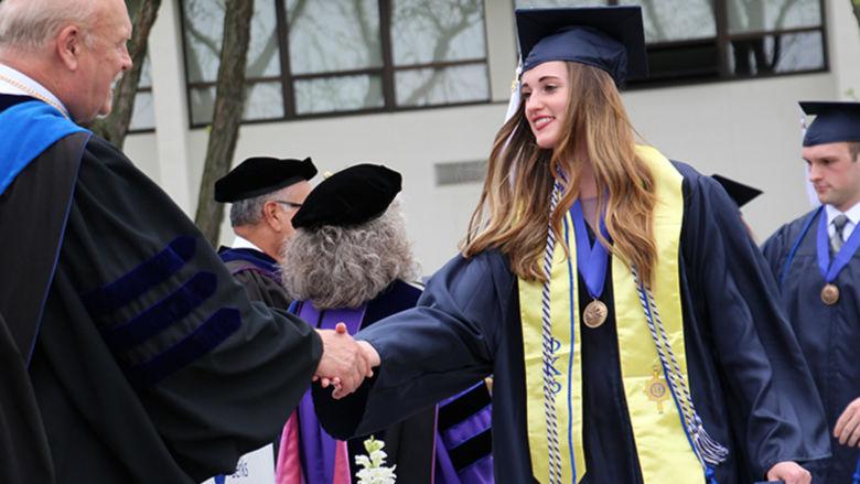 Kaylee Grindrod at graduation