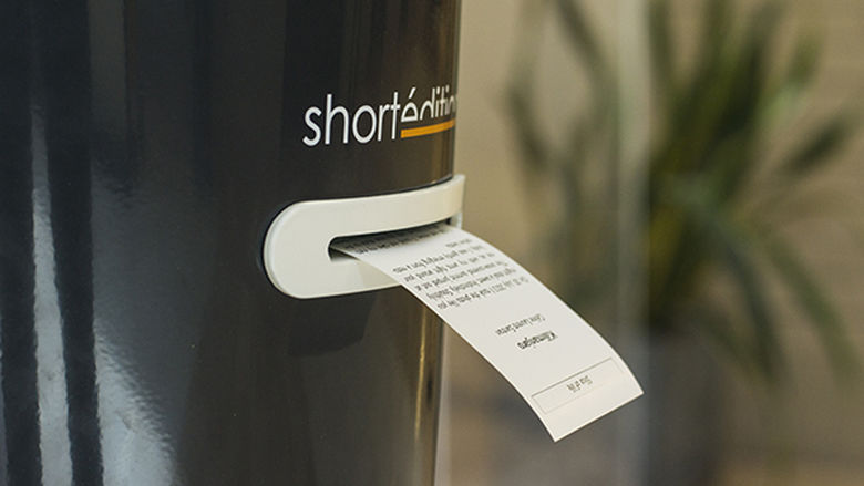 closeup photo of Short Edition dispenser