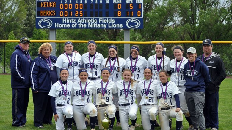 The Penn State Berks softball team