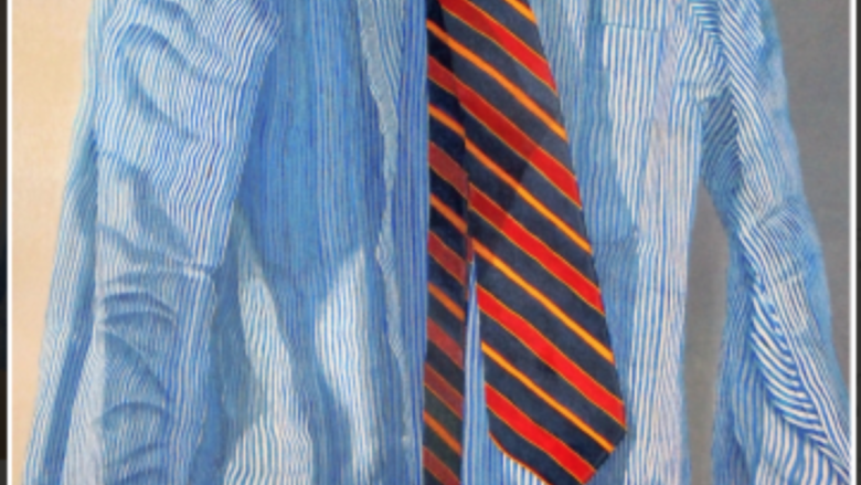 Striped Shirt and Tie, by Bob Stickloon