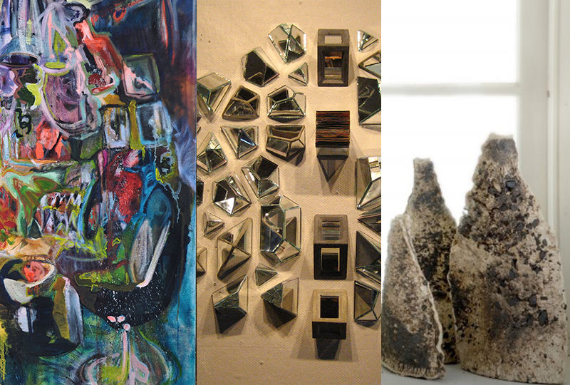 Art works by Erika Stearly, Mike Miller and Delores Kershner