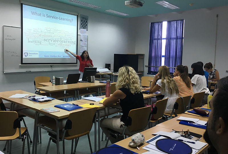 Donna Chambers during her presentation at the University of Split.